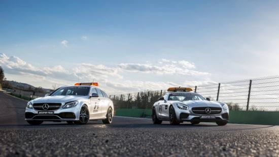 Mercedes-AMG presenta los safety car y medical car de la F1 en 2015