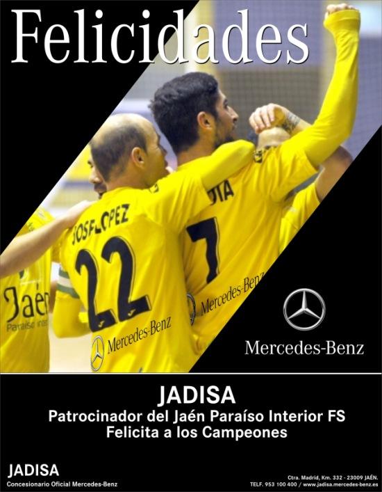 Jaén Paraíso Interior, ganador de la Copa de España de fútbol sala