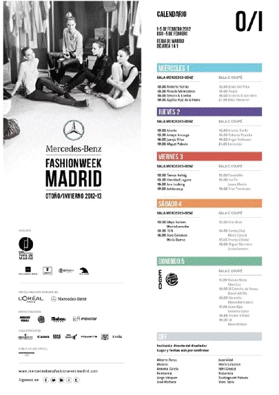 A TAN SOLO UNOS DÍAS DE LA MERCEDES-BENZ FASHION WEEK MADRID
