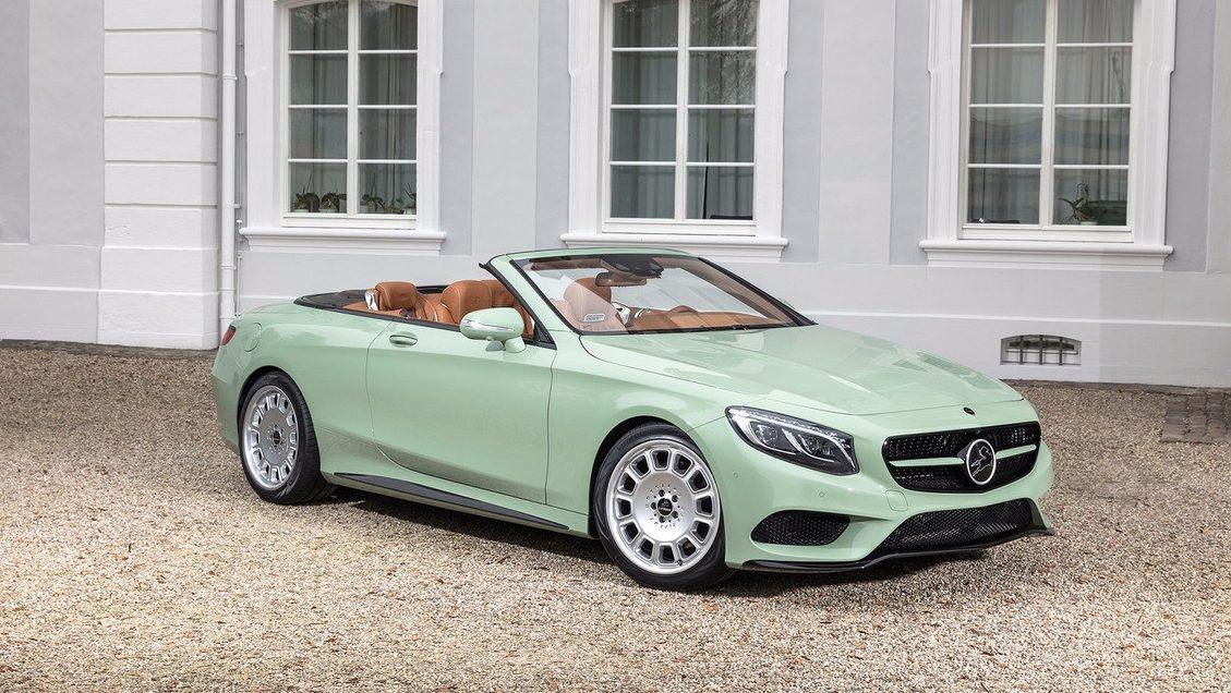 El Mercedes-Benz Clase S Cabrio convertido en helado de menta