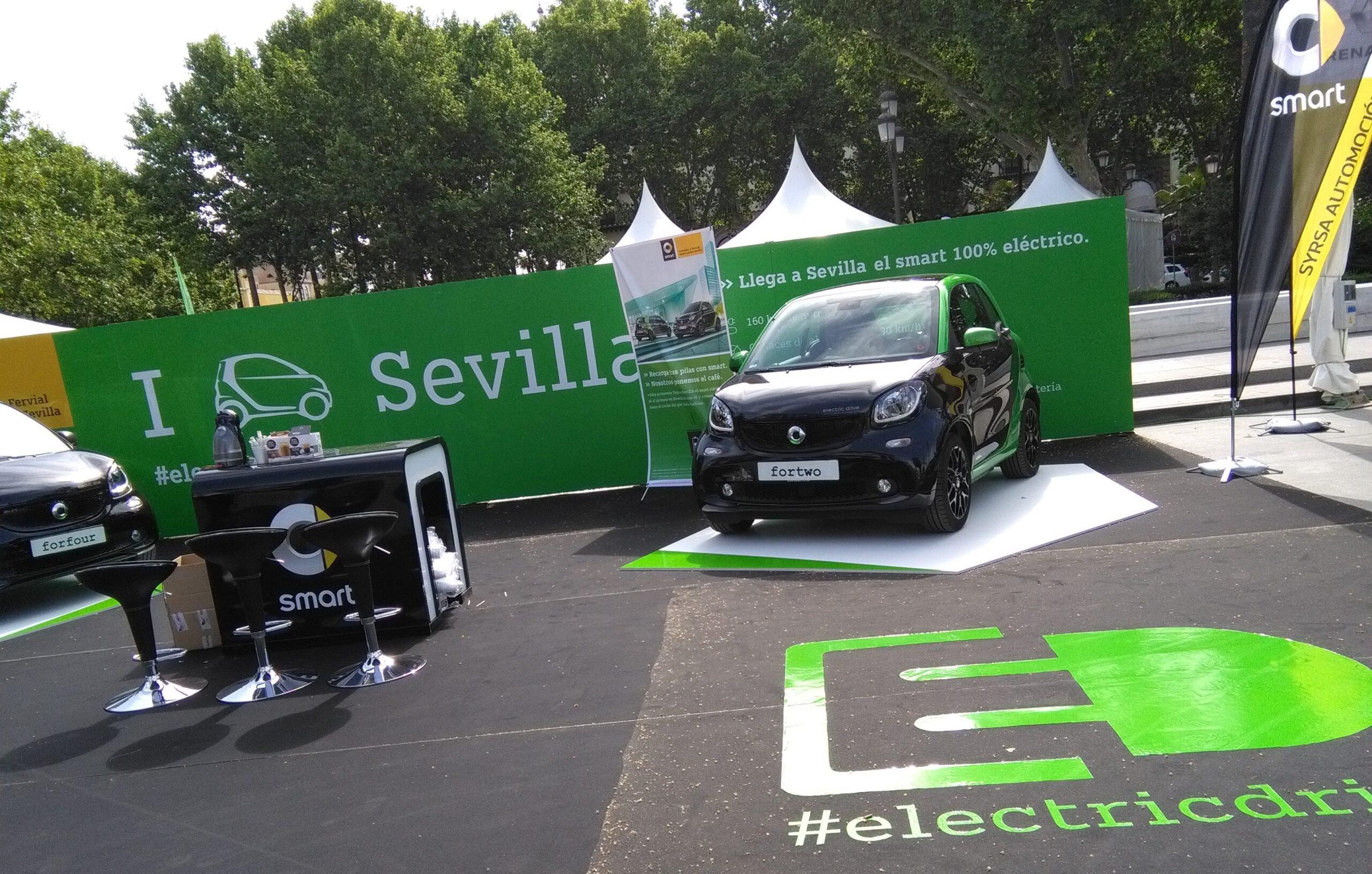 Los nuevos smart eléctricos por primera vez en Sevilla
