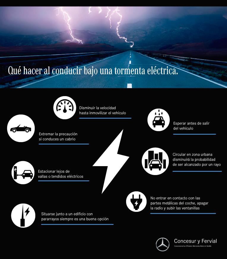 conducir bajo tormenta eléctrica