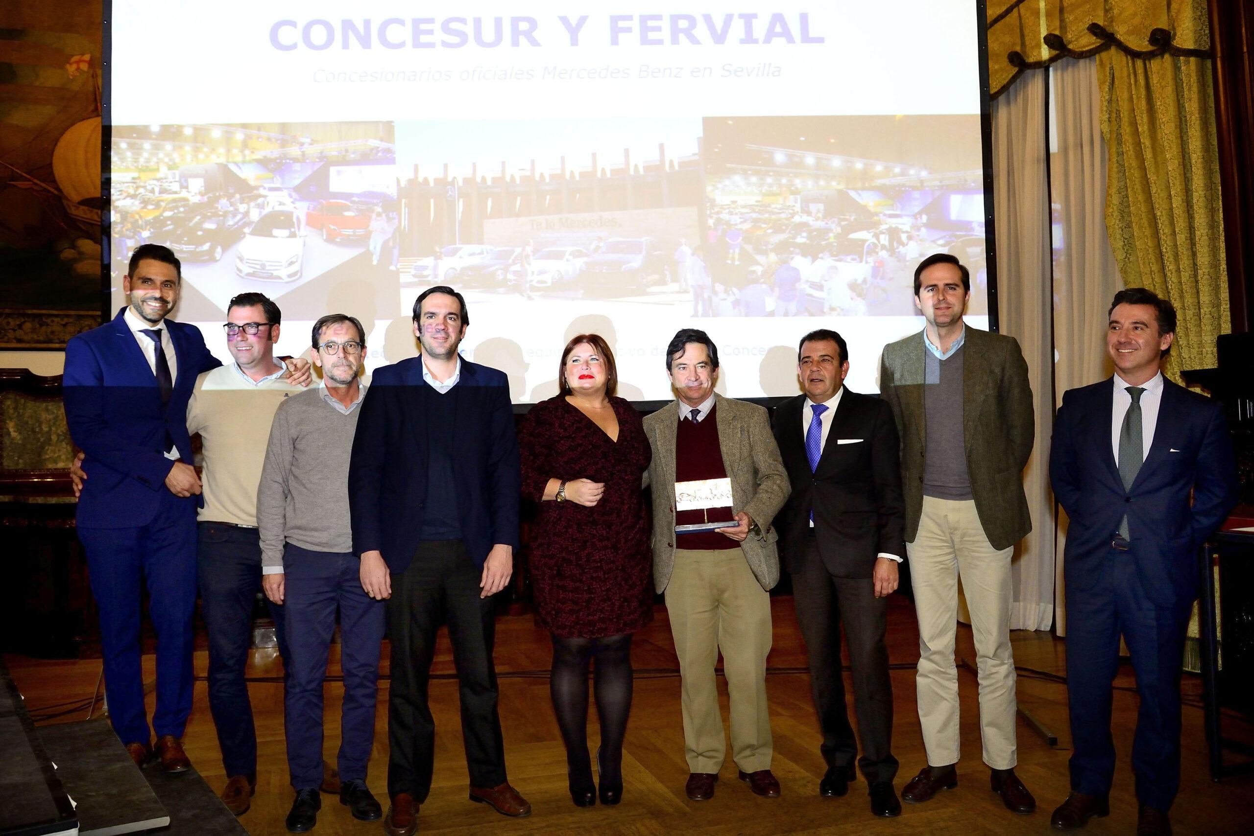 Concesur y Fervial, «Premio al Mejor Stand-7º Salón del Motor de Ocasión de Sevilla»