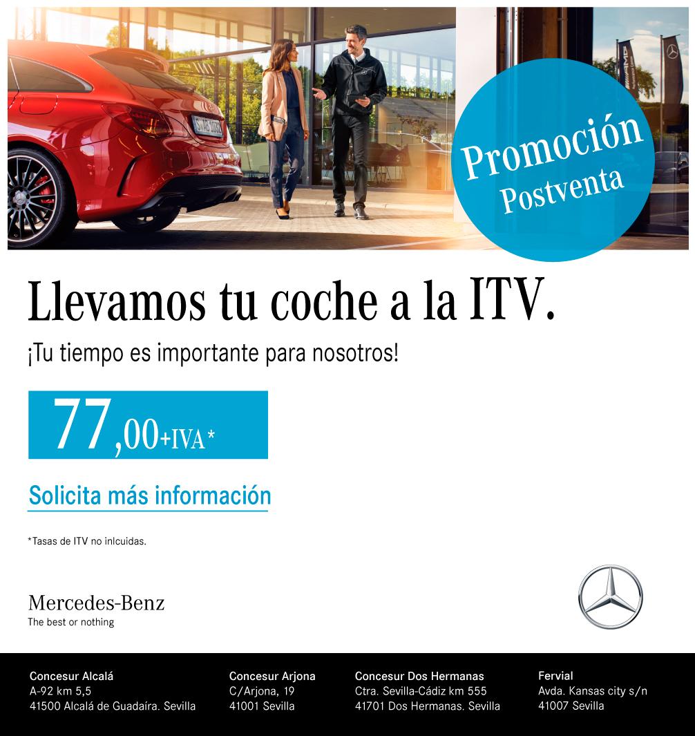 Llevamos tu coche a la ITV Concesur Mercedes-Benz