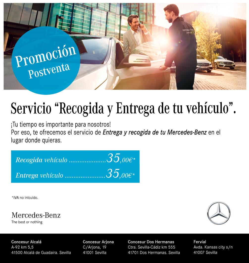 Servicio entrega y recogida del vehículo Concesur Mercedes-Benz Sevilla