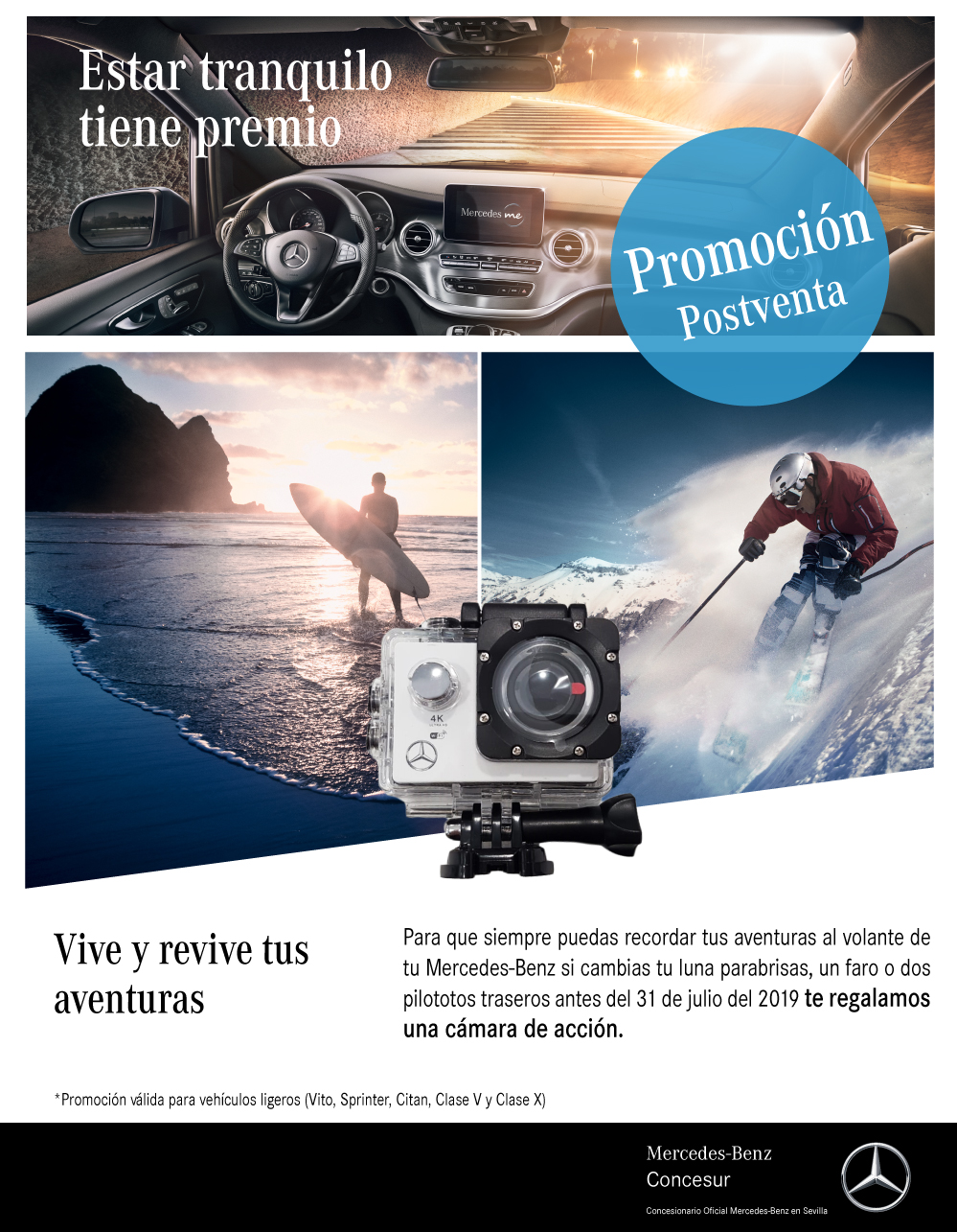 Cambio de lunas furgonetas Mercedes-Benz Concesur Sevilla