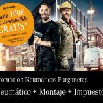 Promoción precios neumáticos furgonetas Mercedes-Benz Concesur y Fervial