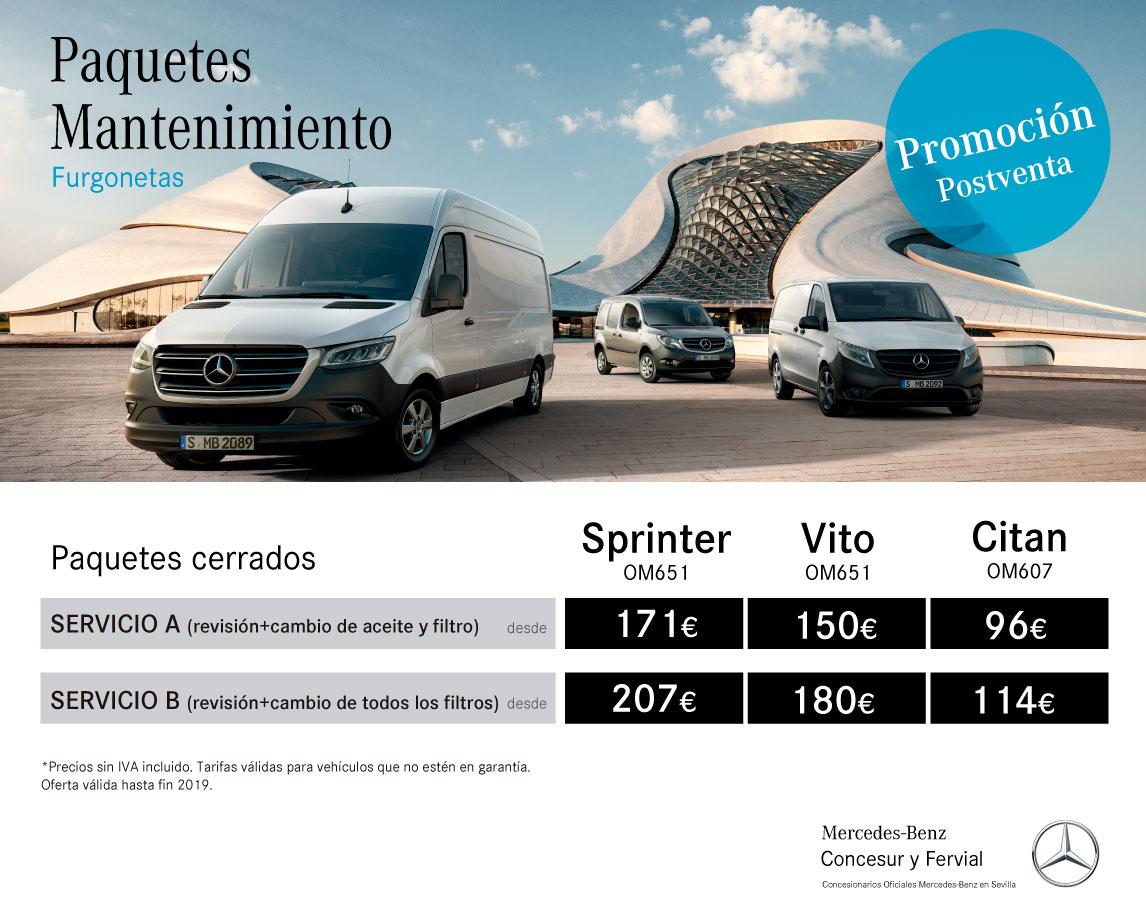 Precios mantenimiento Concesur Mercedes-Benz Sevilla