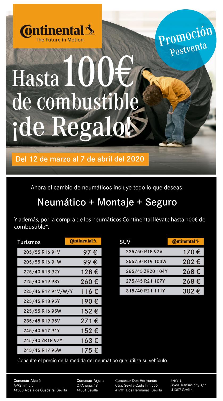 Promoción precios neumáticos Concesur y Fervial Mercedes-Benz Sevilla