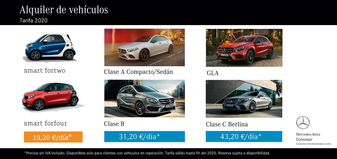 Alquiler vehículos Mercedes-Benz Sevilla Concesur y Fervial