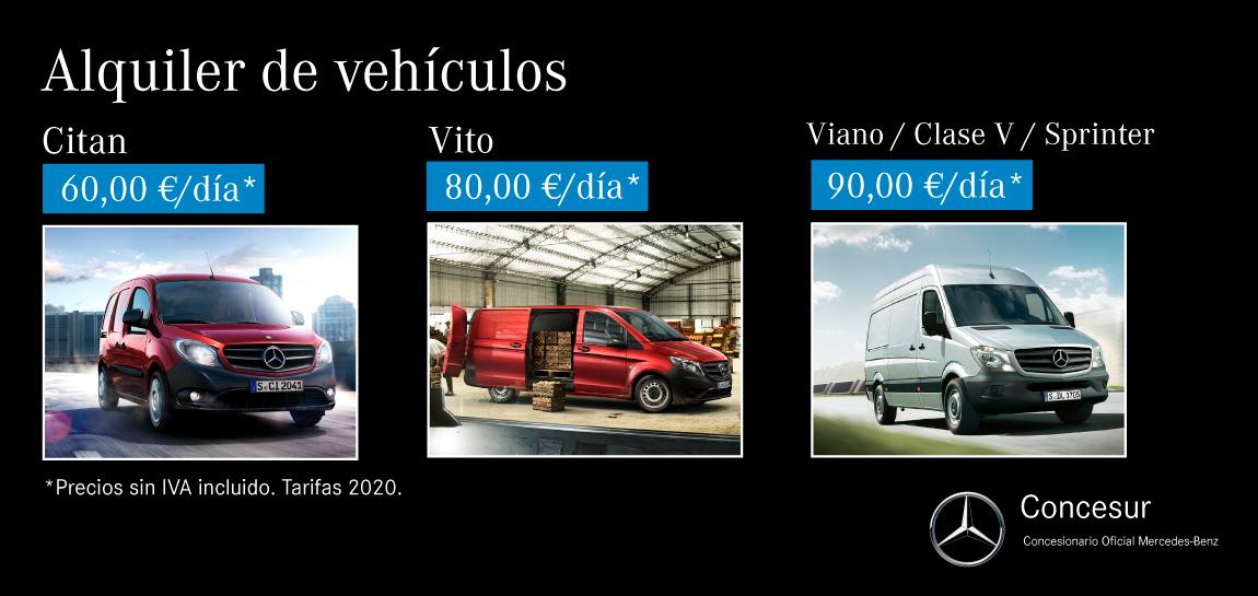 Alquiler furgoneta Mercedes-Benz Sevilla Concesur