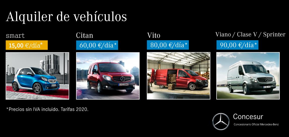 Alquiler furgonetas taller Concesur Mercedes-Benz Sevilla