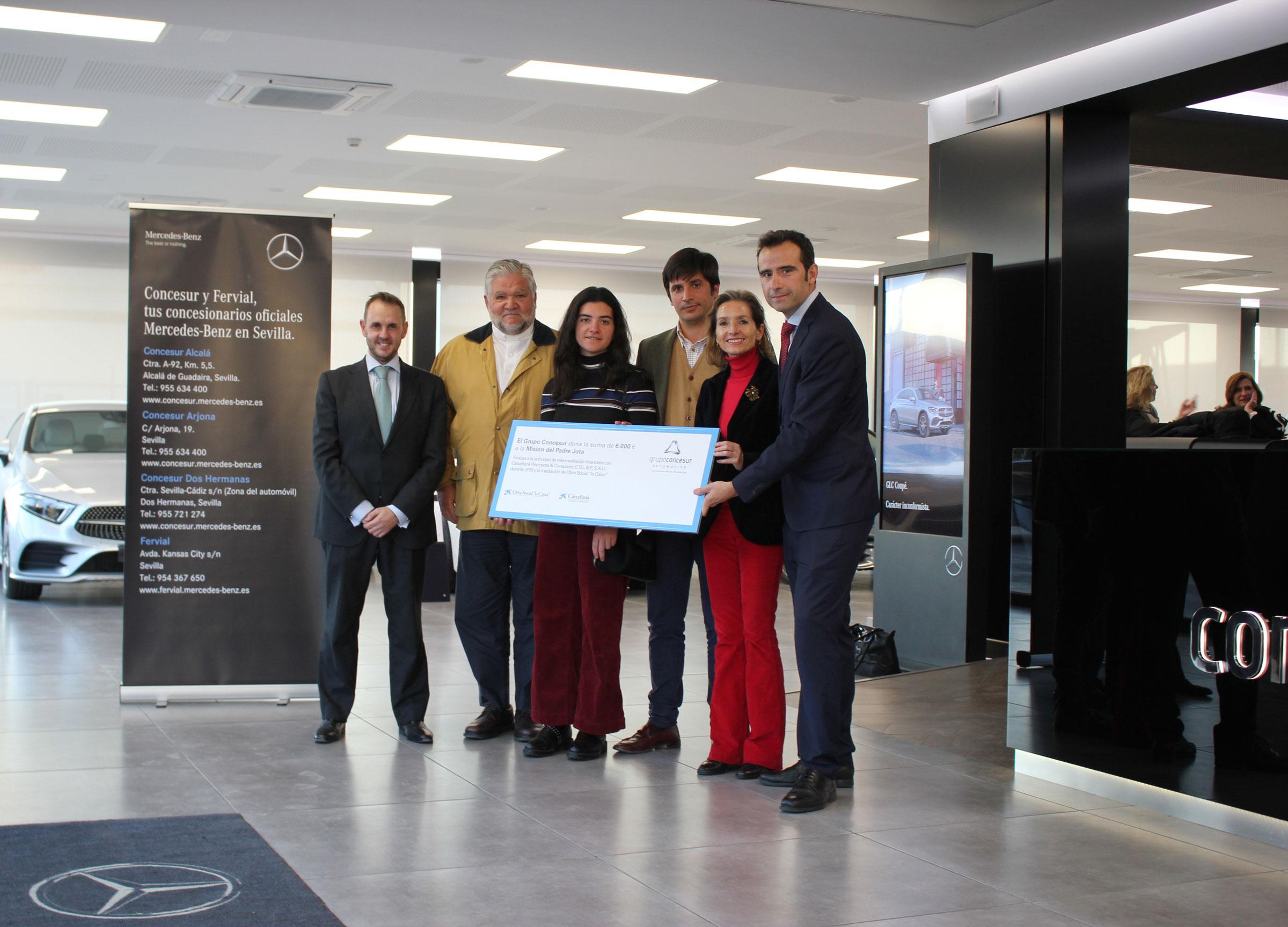 Grupo Concesur dona 6.000 € a la Misión del Padre Jota